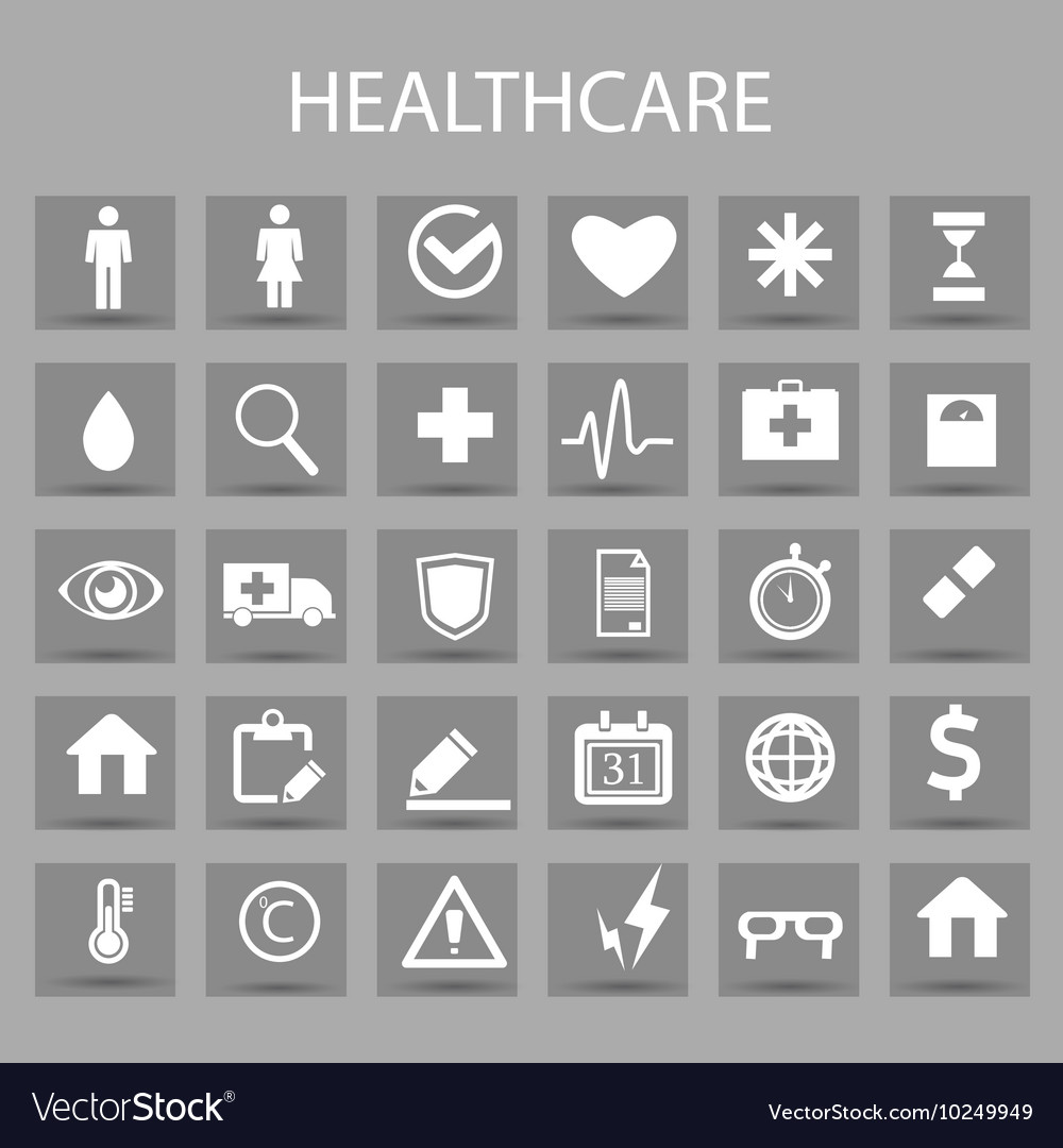 Flat icons set and graphic design elements vector