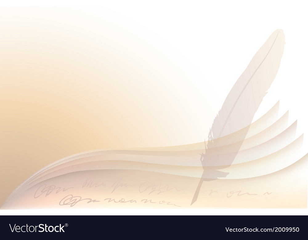 Background of paper and pen vector