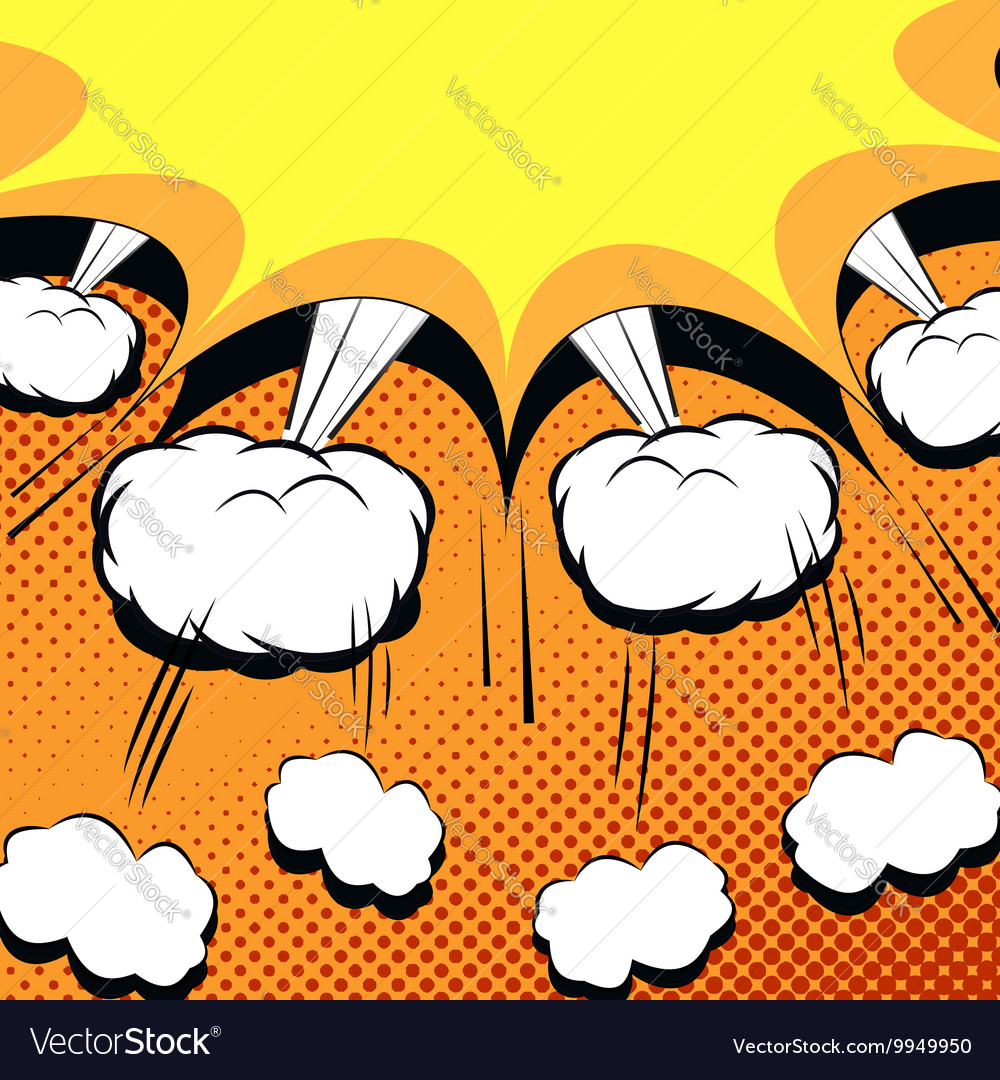 Comic book cartoon with explosion vector