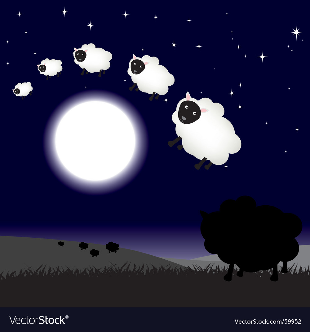 Moon jump sheep vector
