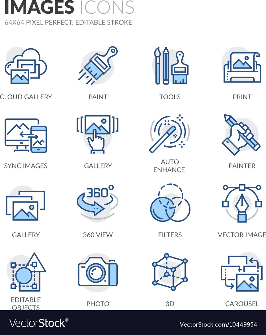 Line images icons vector