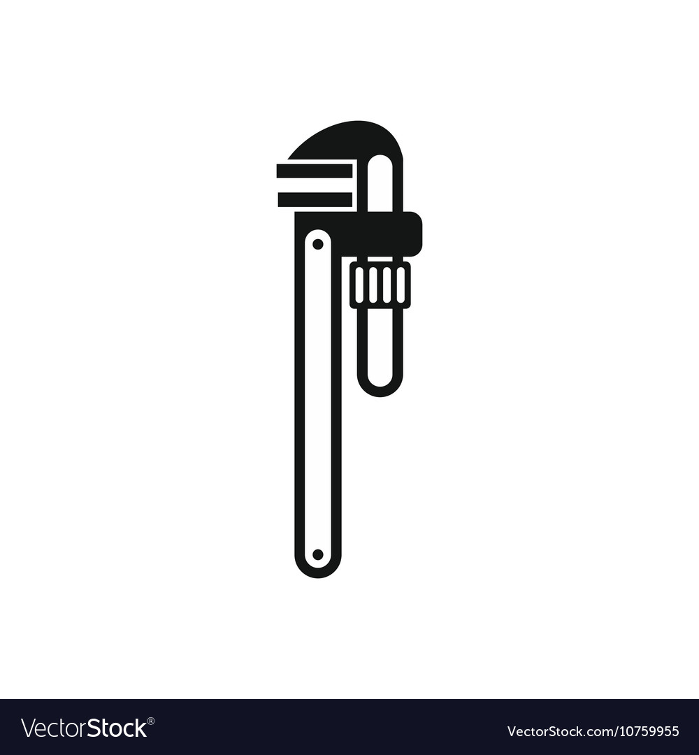 Pipe or monkey wrench icon simple style vector