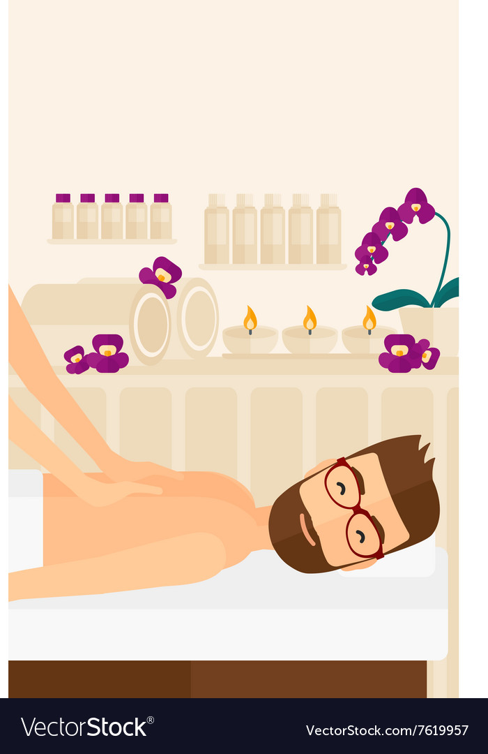 Man recieving massage vector