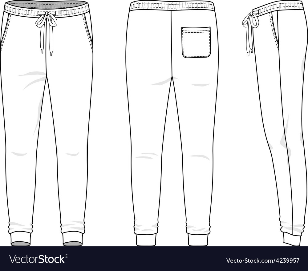 Sweatpants vector