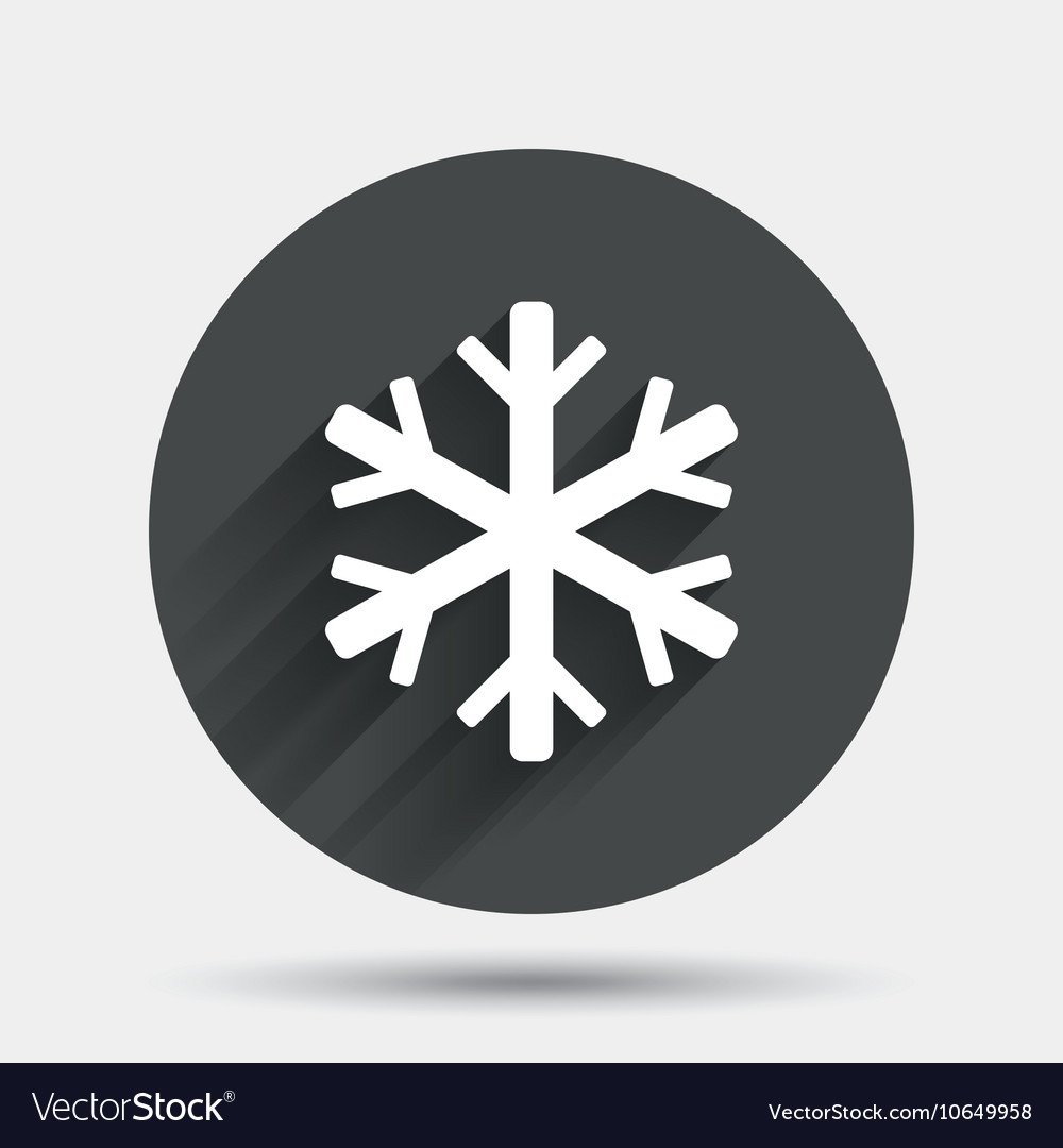 Snowflake sign icon air conditioning symbol vector