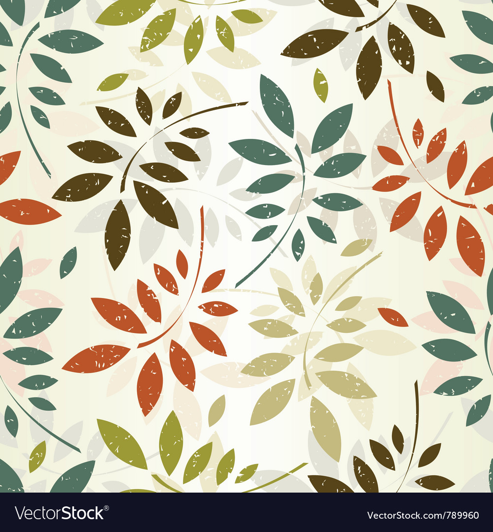 Seamless leaves wallpaper vector