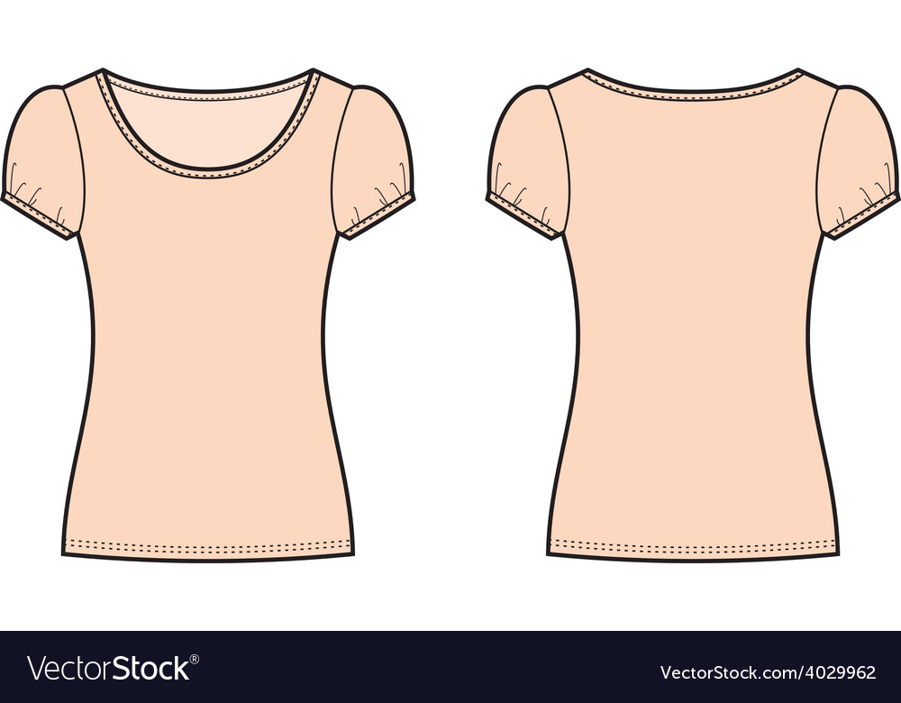 Summer top vector