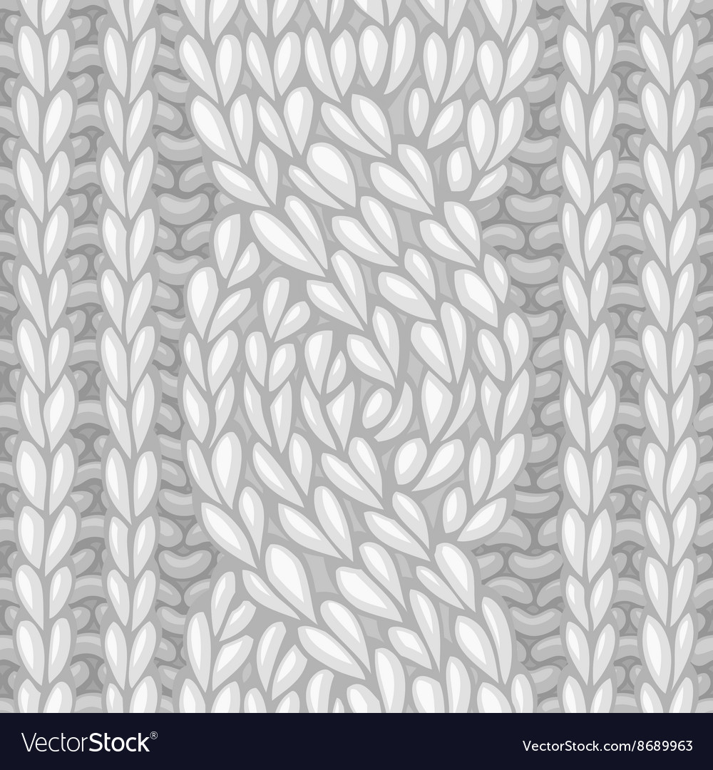 Seamless sixstitch cable stitch vector
