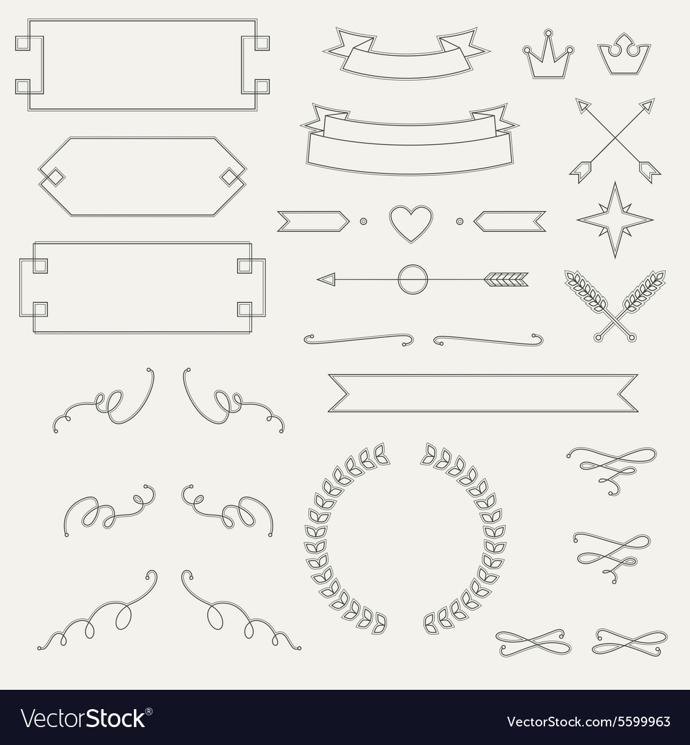 Set geometric elements info graphic labels vector