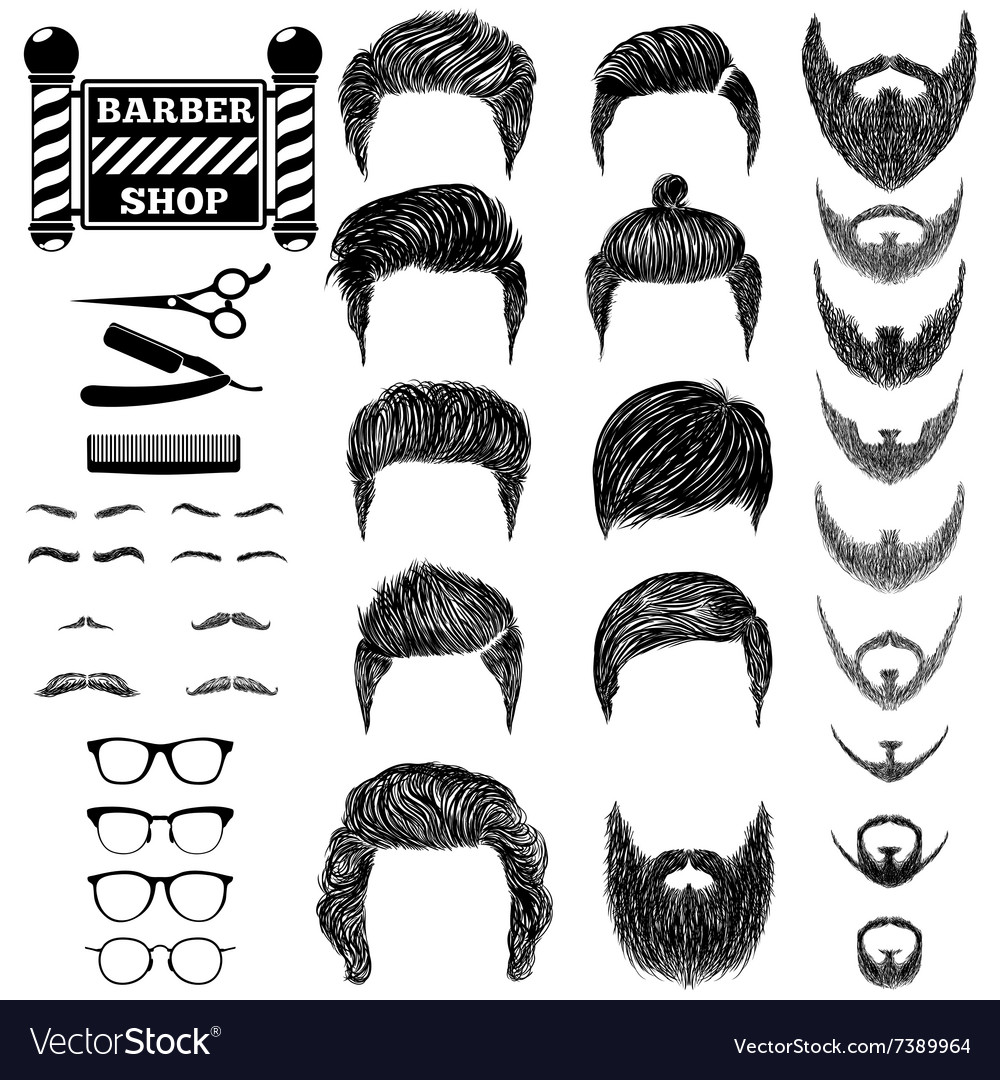Barber set 1 vector