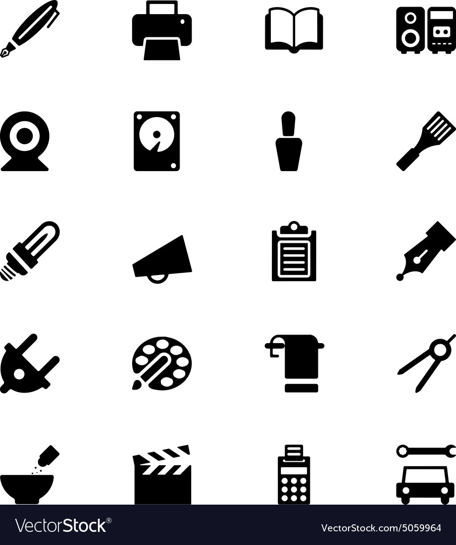 Tools icons 8 vector