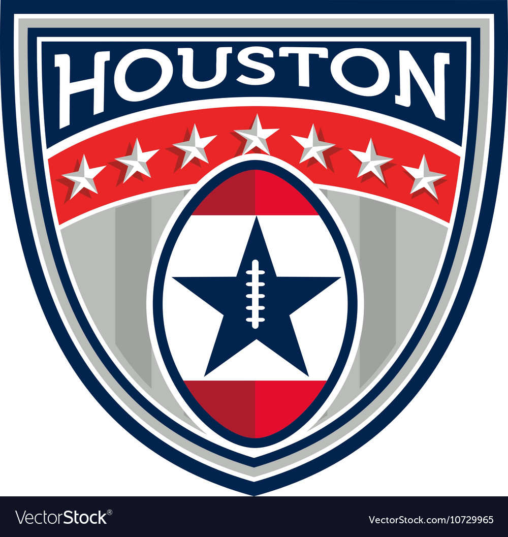 American football houston stars stripes crest vector