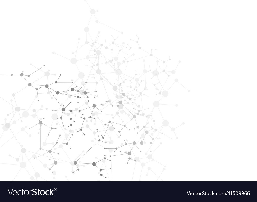 Abstract grey dna molecular structure background vector