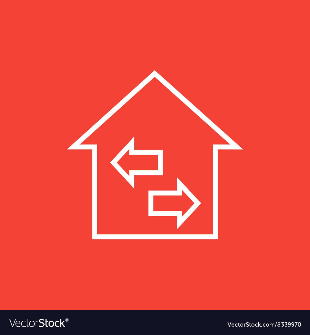 Property resale line icon vector