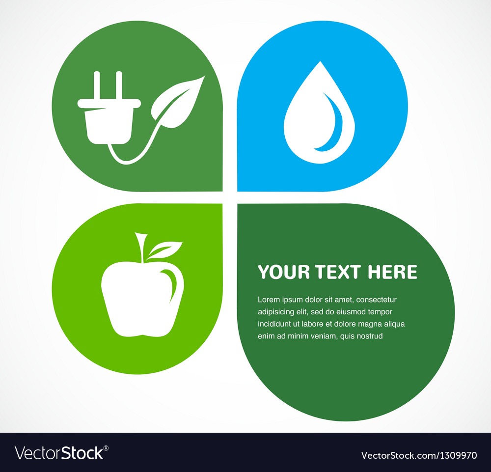Recycle icons wit place for your text vector