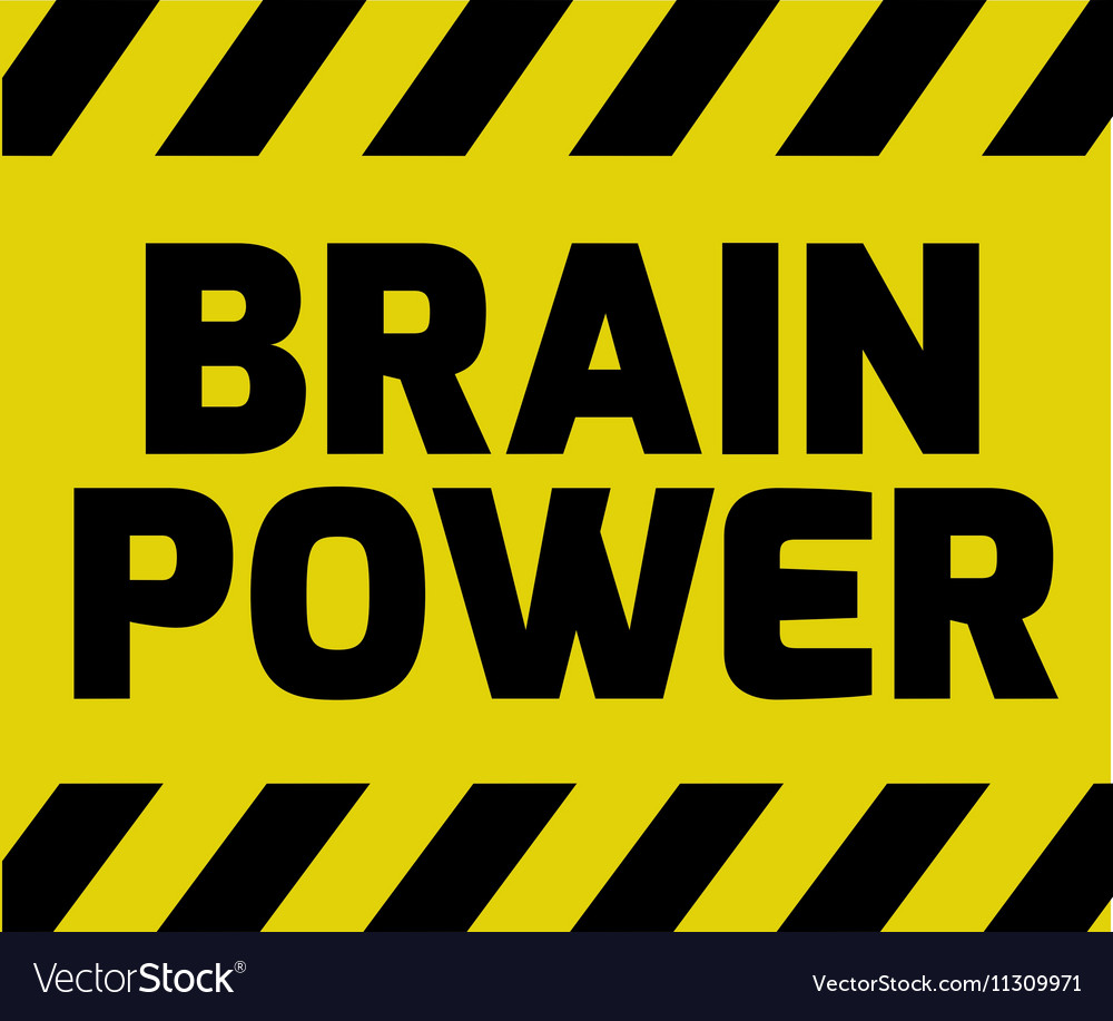 Brain power sign vector