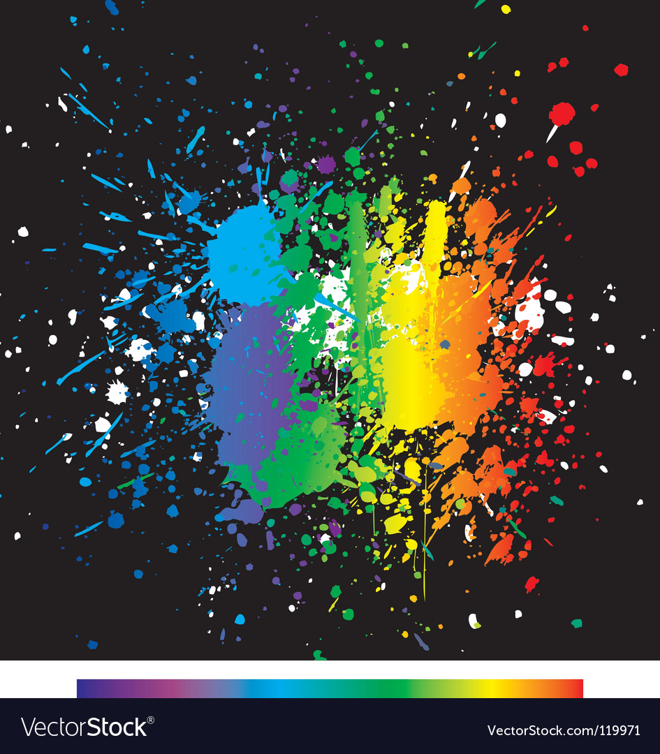 Color paint splashes gradient backgrou vector