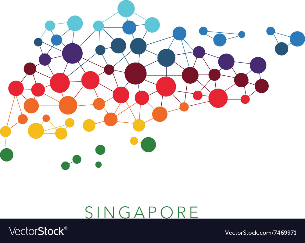 Dotted texture singapore background vector