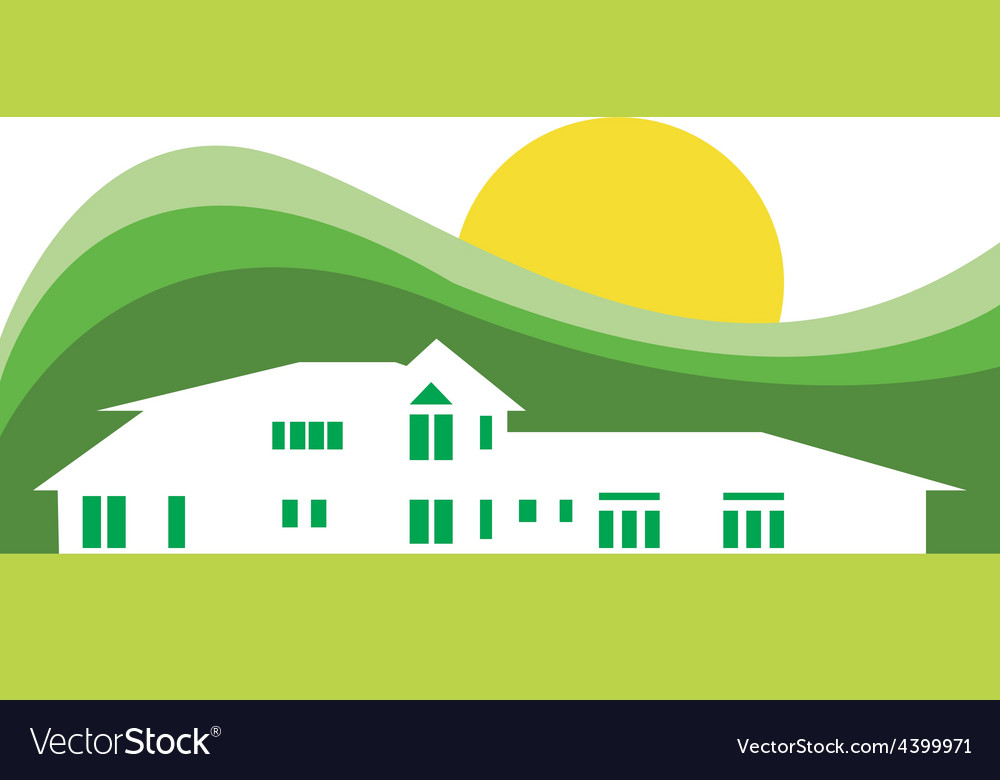 Hotel house background vector