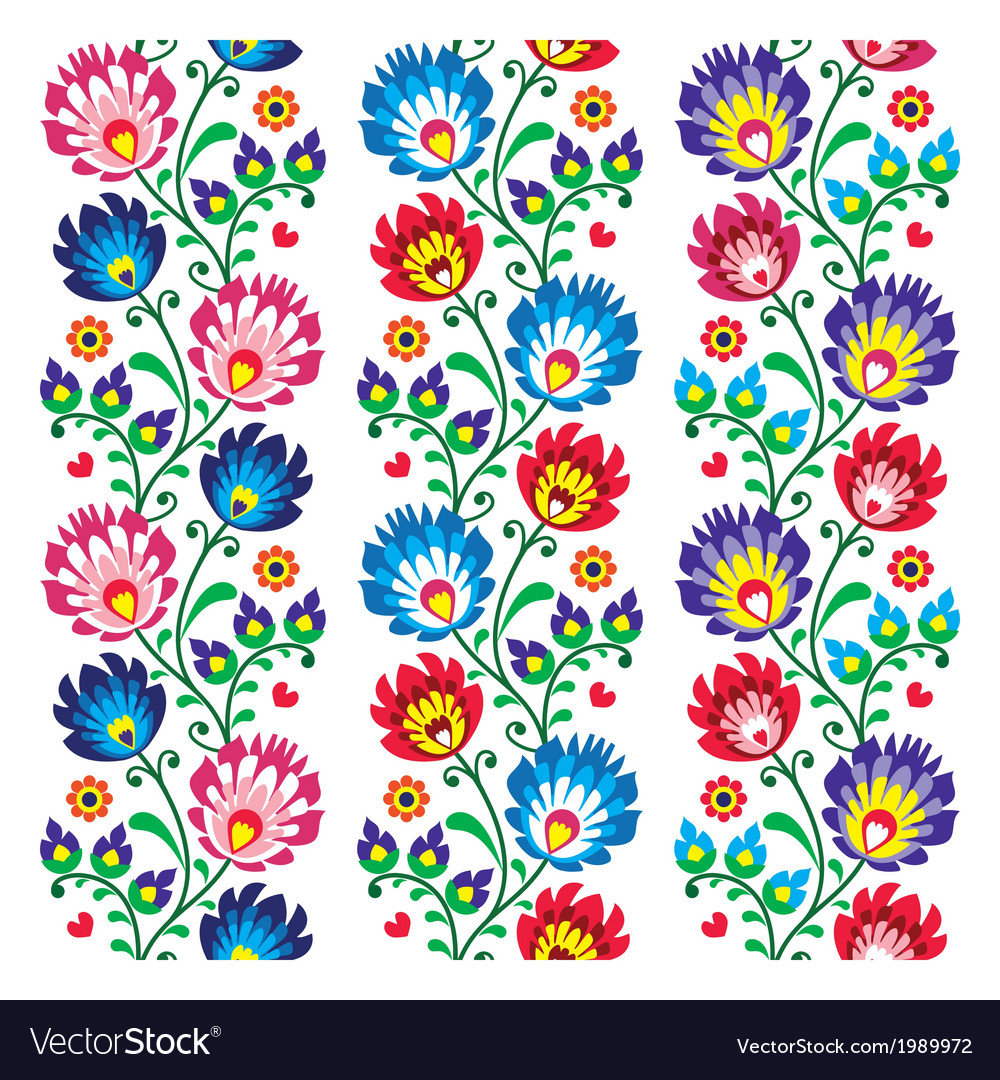 Seamless traditional folk polish pattern vector
