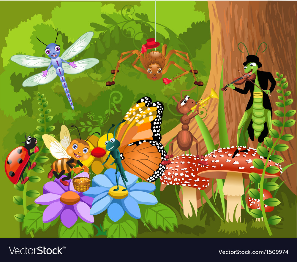 Bug world vector