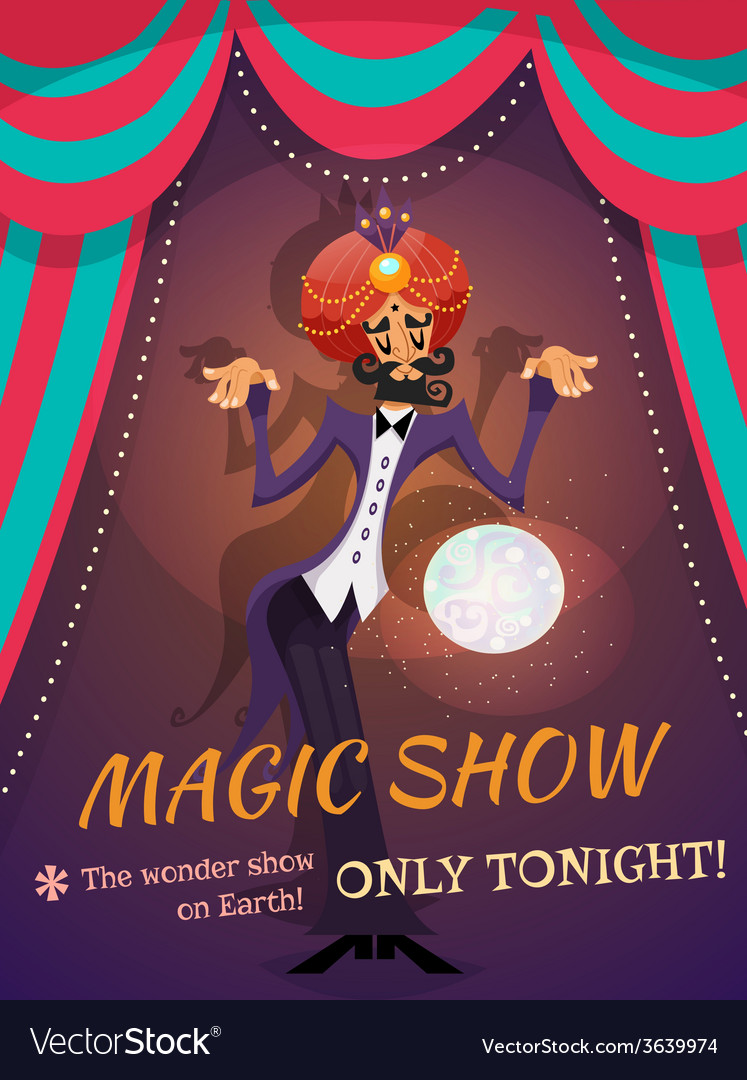 Magic show poster vector