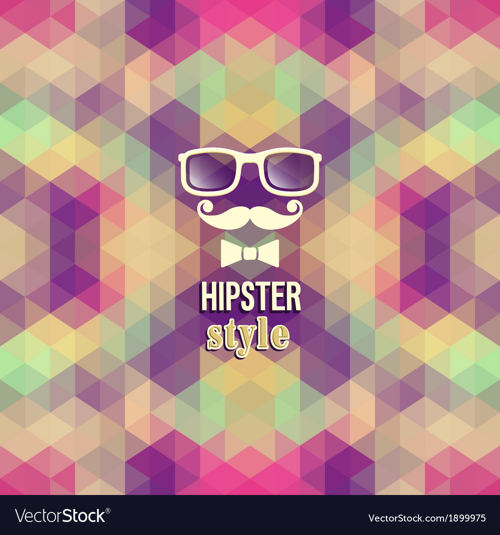 Hipster background vector