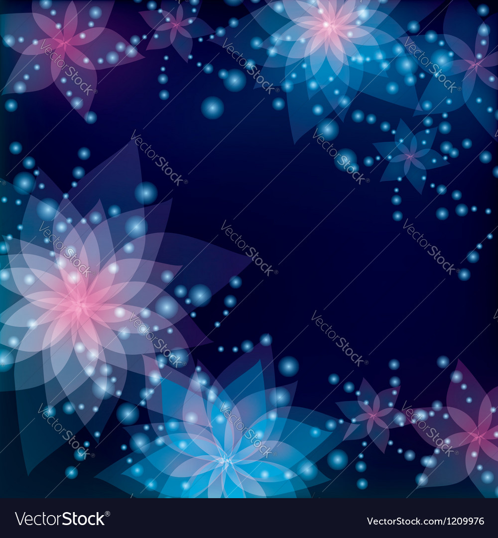Floral abstract background greeting or invitation vector