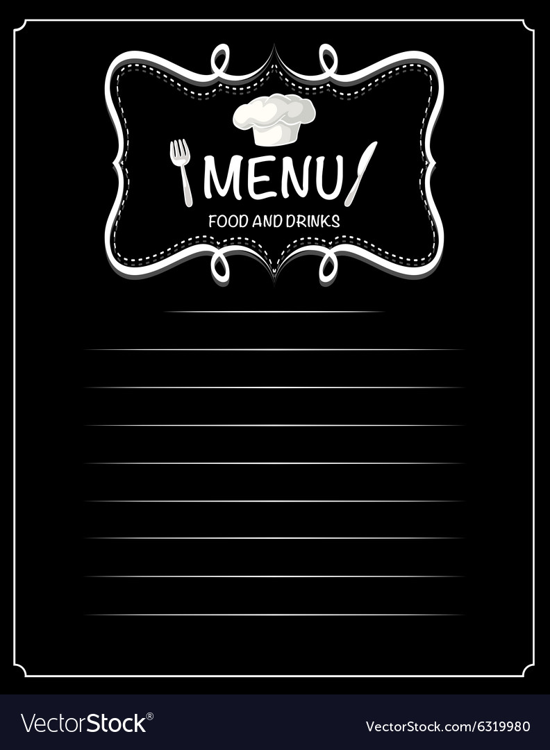 Paper design with menu food and drinks vector