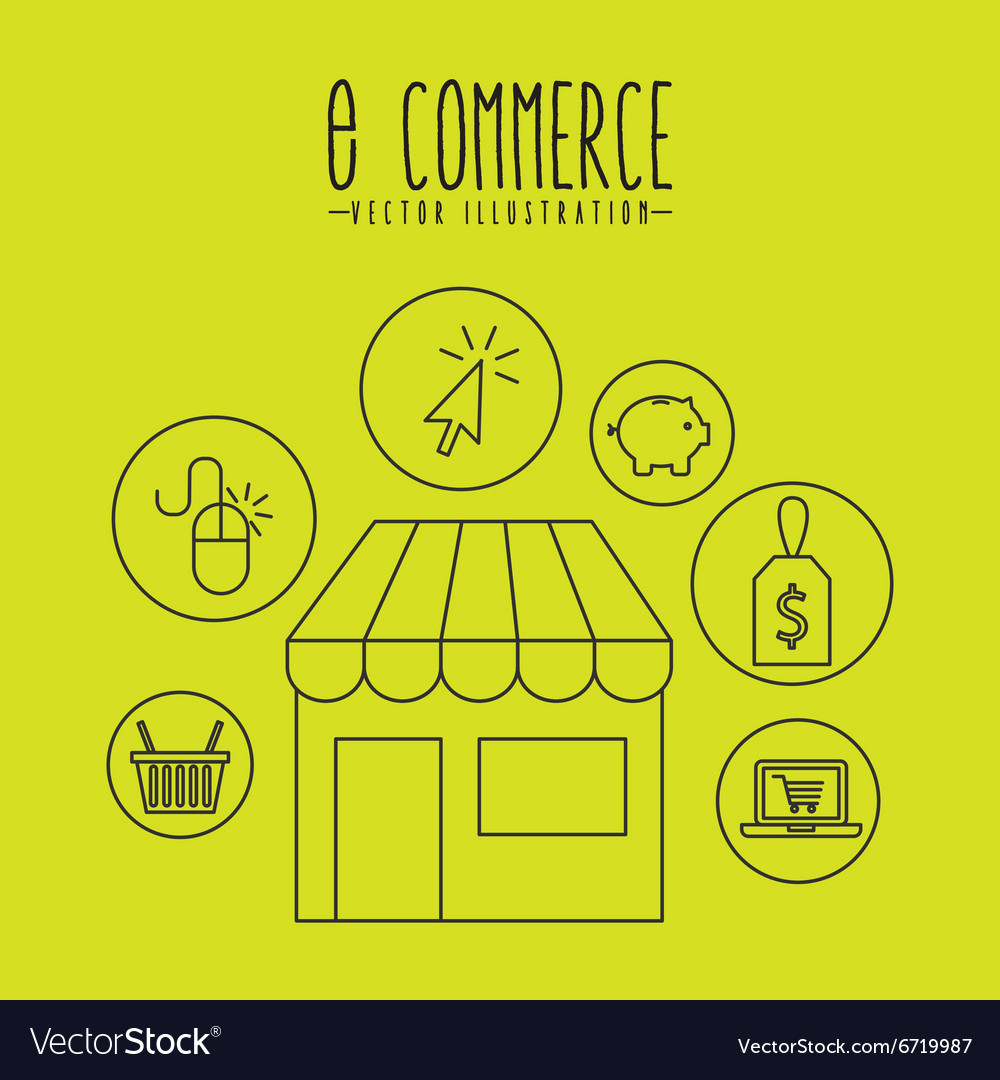 Ecommerce icons design vector