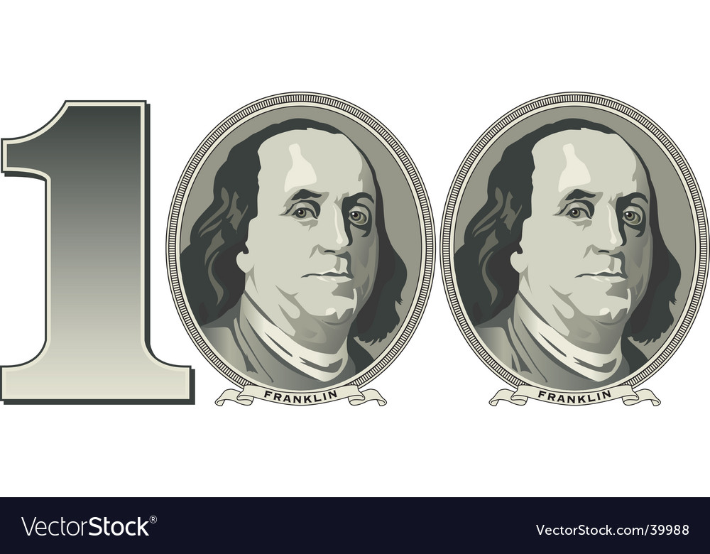 100 financial background vector