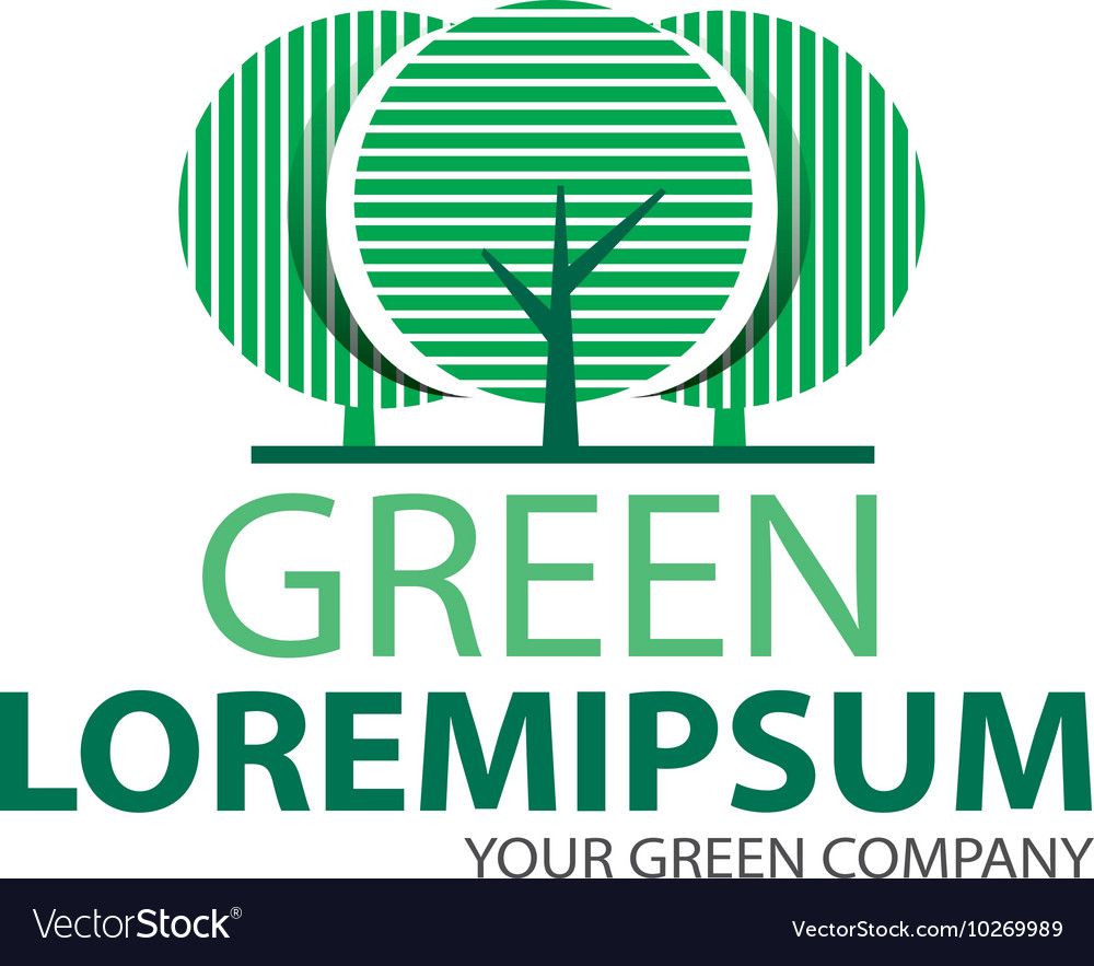 Logo green tree 2 vector