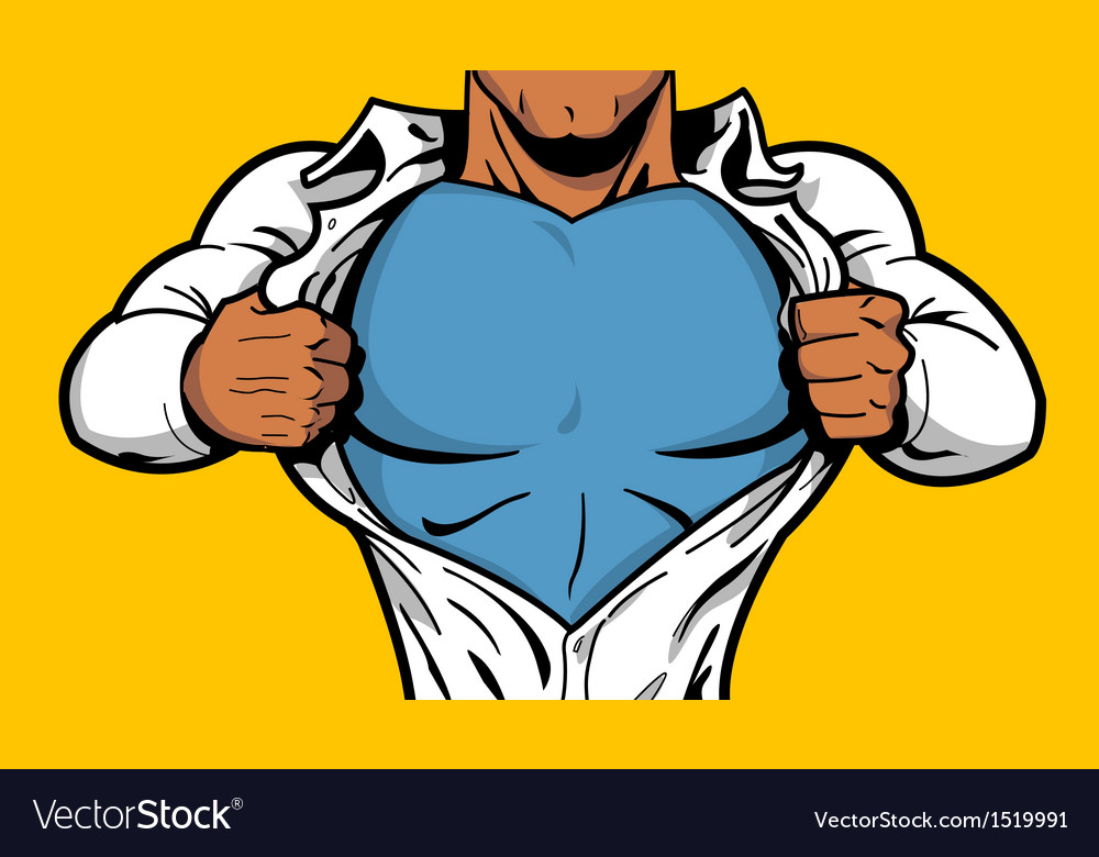 Black superhero chest vector