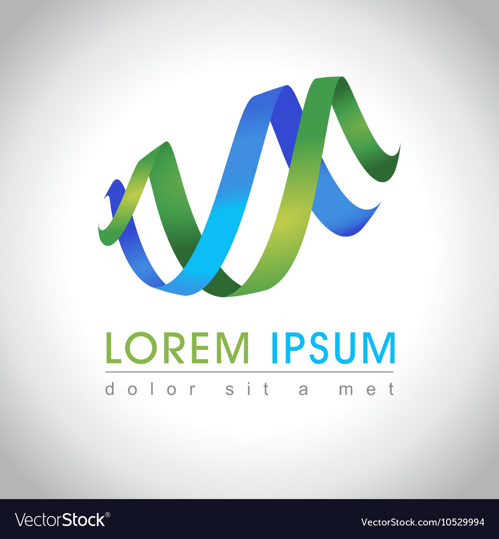 Abstract swirl logo vector