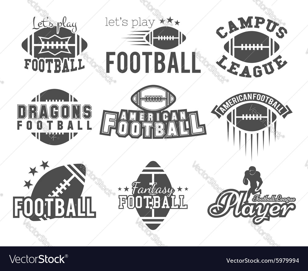 College rugby and american football team college vector