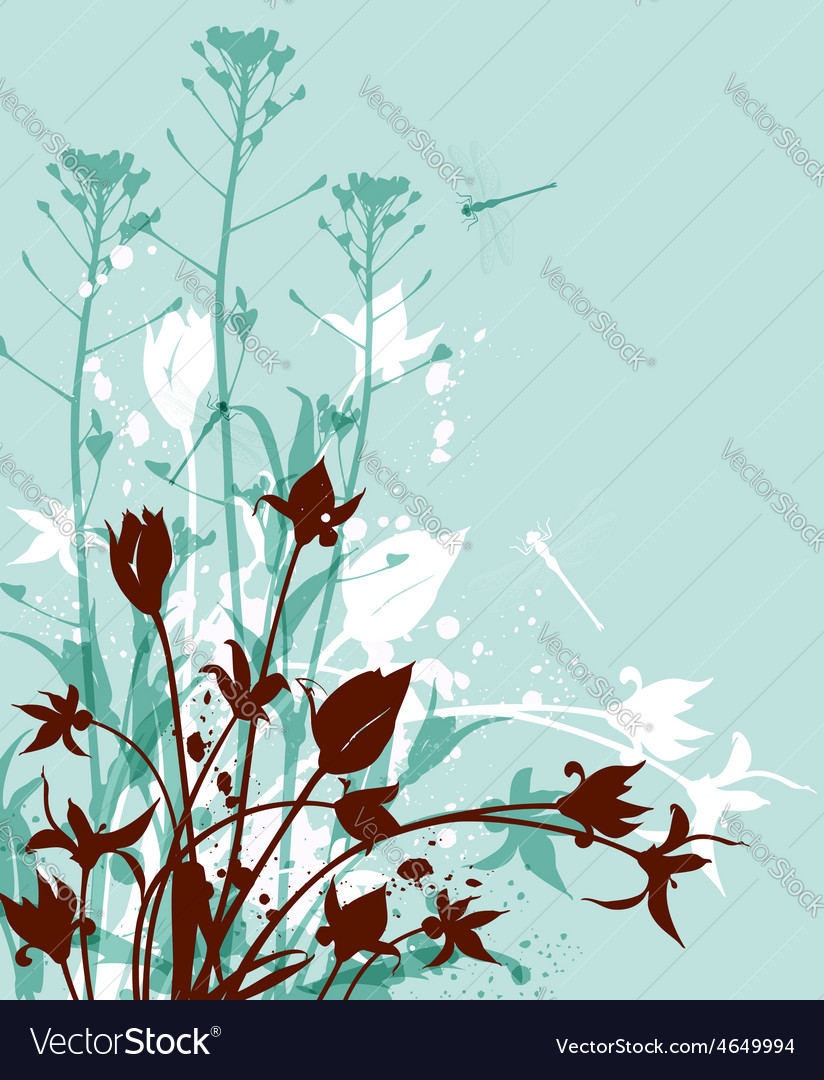 Decorative nature green background vector