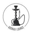 Hookah lounge emblem - shisha bar vector image