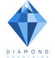 abstract icon design template of mountain diamond vector image