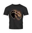dinosaur head sport club logo concept vector image