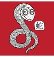 Chinese Zodiac Animal astrological sign snake vector image vector image