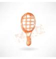 racket grunge icon vector image vector image