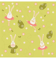 Easter bunnies seamless vector image vector image