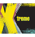 exreme rally car background vector image vector image