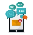 Sms and email design vector image