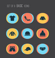 clothes icons set collection of stylish apparel vector image