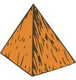 color wooden pyramid vector image