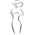 Fashion Lady in a Hat vector image
