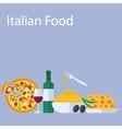 Italian food flat background vector image