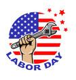 labor day circle badge vector image