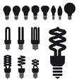 Set of energy saving bulbs vector image
